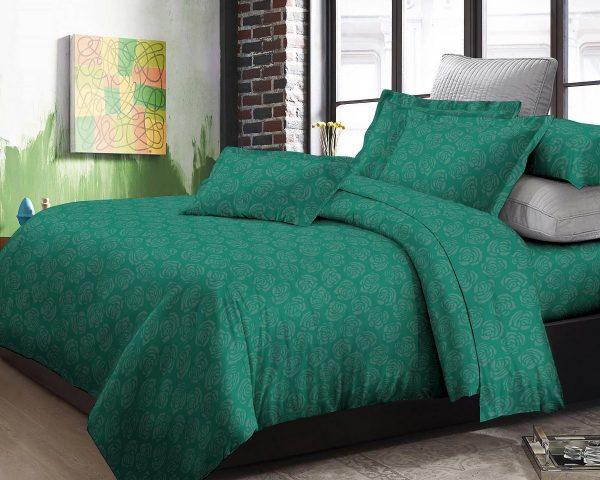 Adela Sprei dan Bedcover Emerald